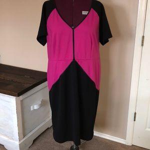 Christian Siriano for Lane Bryant Pink Black Dress